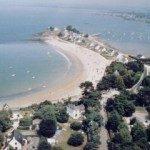 Vue aérienne de la baie de Sorlock